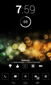 Pandora Transparent Widget