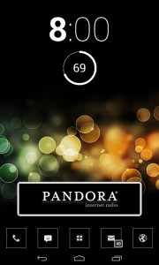 Pandora Transparent Widget ... NOT!