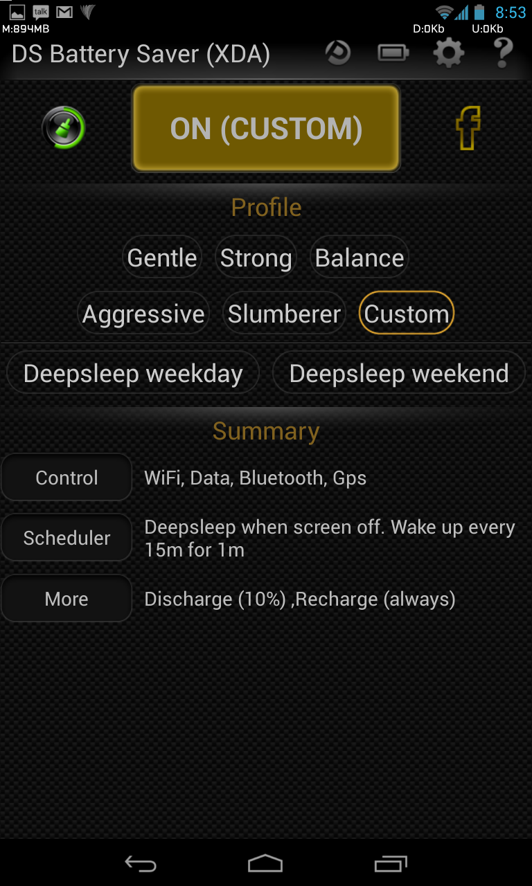 DS Battery Saver for Android battery saving